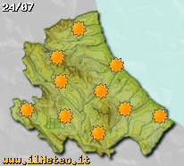 Previsioni meteo fra seigiorni sull'Abruzzo