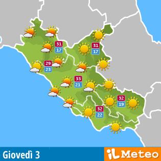 Meteo regione Lazio