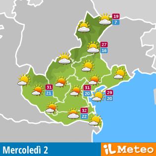 cartina Meteo Veneto