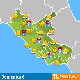 Previsione Lazio per domani