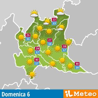 Meteo Lombardia fra tre giorni