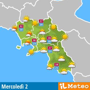 Meteo Campania oggi