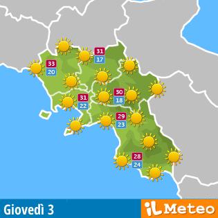 Previsione Campania per domani