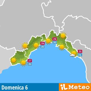 Previsioni meteo per la Liguria