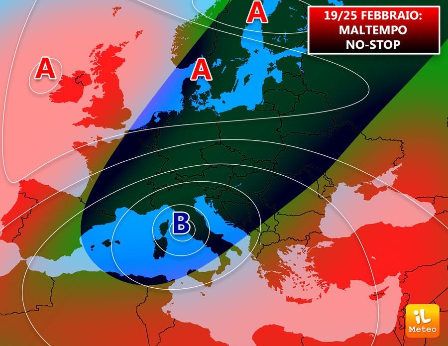 Bassa pressione italica nella terza settimana di Febbraio