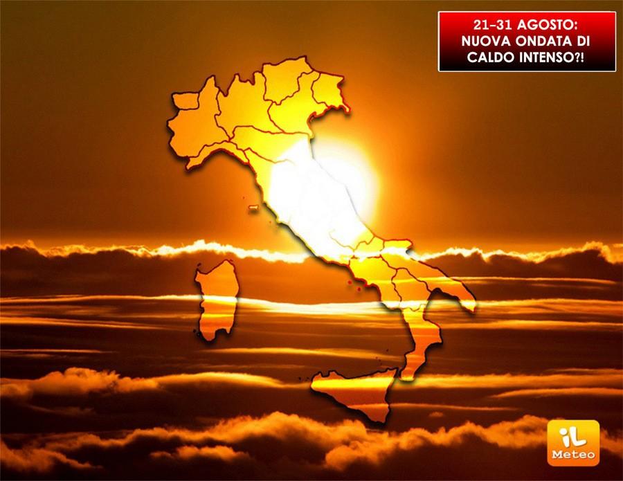Torna il gran caldo dal 24 Agosto