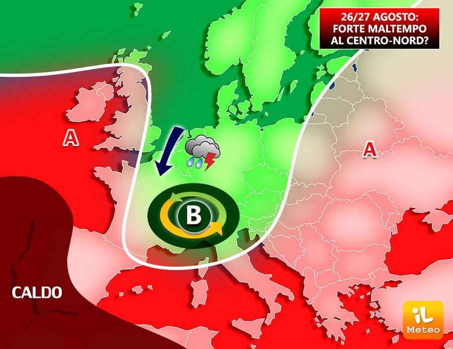 Ciclone sull'Italia per fine mese?