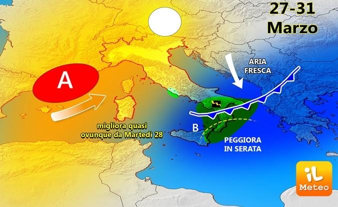 Alta pressione alla conquista dell'Italia