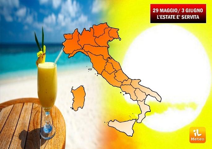 Sole e clima estivo per i prossimi sette giorni