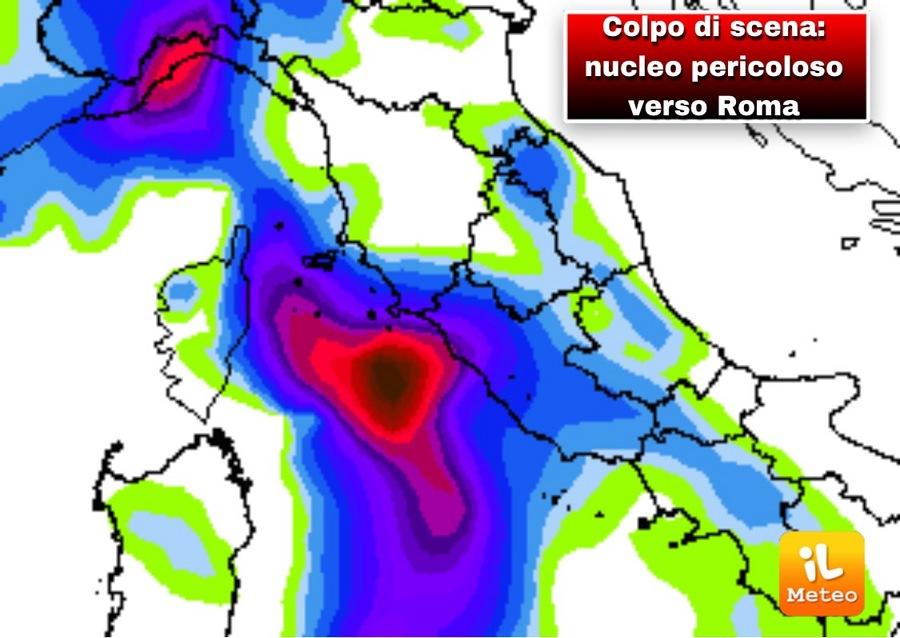 Colpo di scena pioggia eccezionale anche a Roma