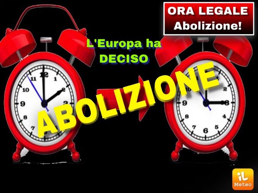 0ad592f43a Meteo > ORA LEGALE, ABOLIZIONE DEFINITIVA del CAMBIO anche in Italia ...
