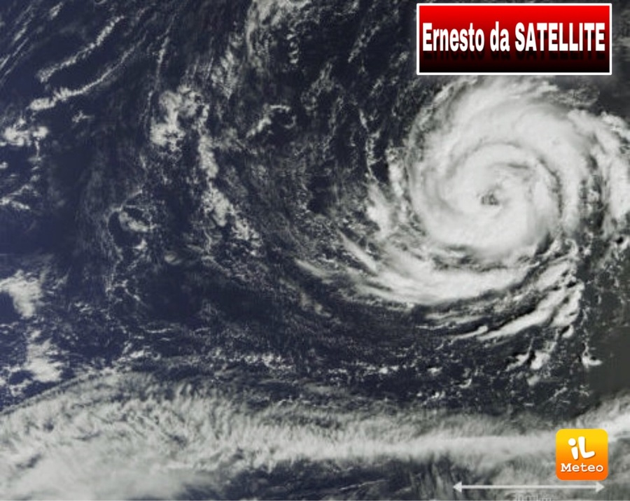 Cyclone Ernesto from the satellite