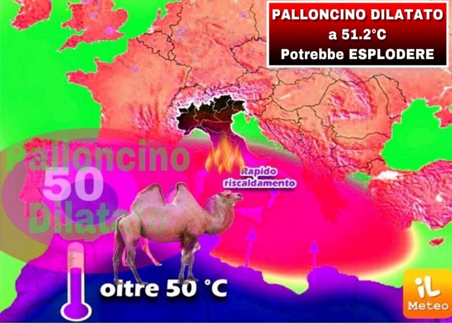 Superati i +50°C in Algeria