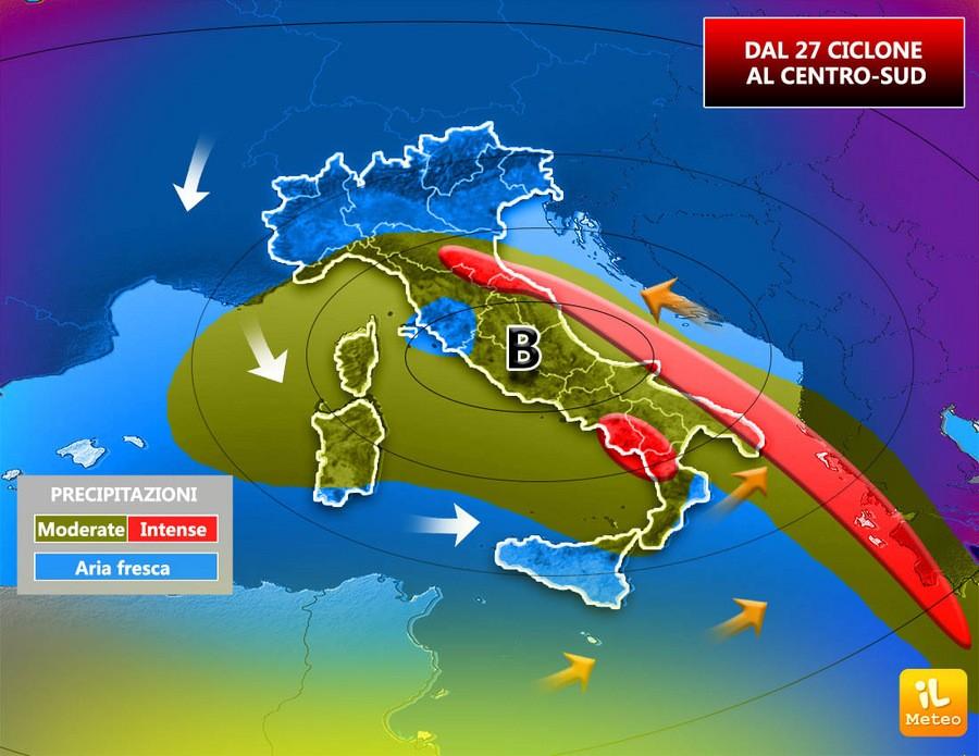 Possibile formazione di un ciclone mediterraneo dal 27 Settembre