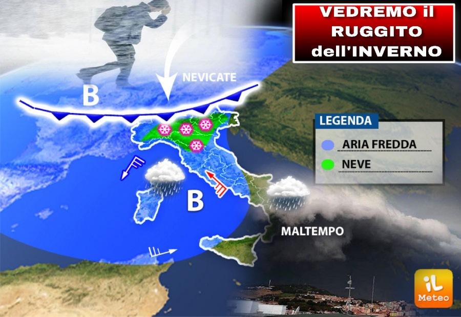 Perturbazione in avvicinamento con ritorno di PIOGGIA e NEVE. - Meteo Roma