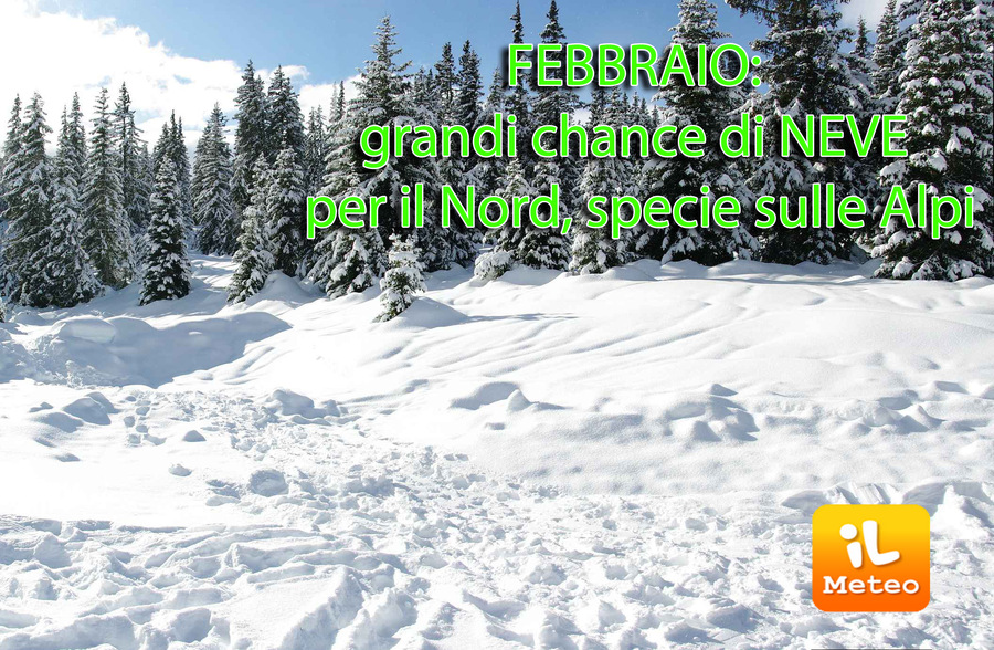 Un Febbraio ricco di neve per le Alpi?