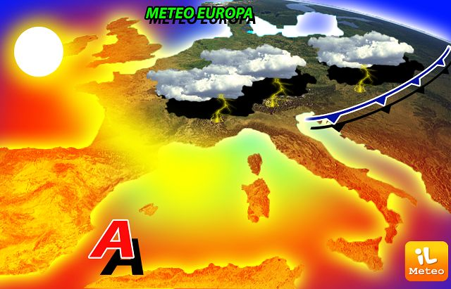 METEO: weekend con FORTI temporali al Nord, grandine e colpi di vento