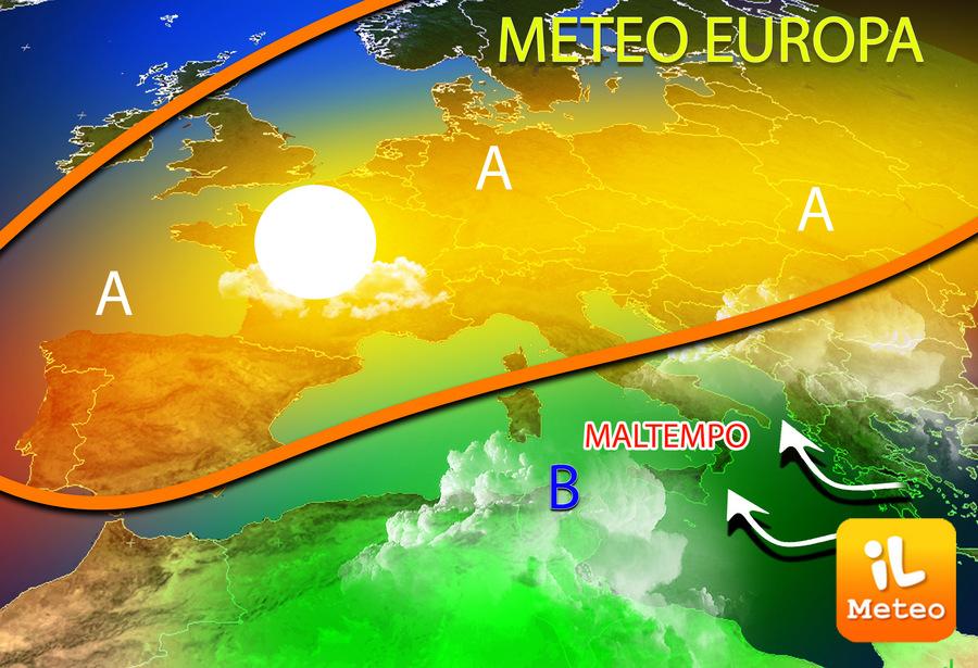 Mediterraneo centro-occidentale minato dalle piogge