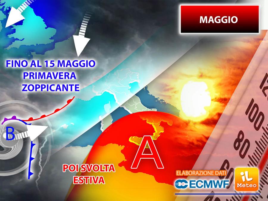 Maggio: avvio con tanti temporali, poi una svolta estiva