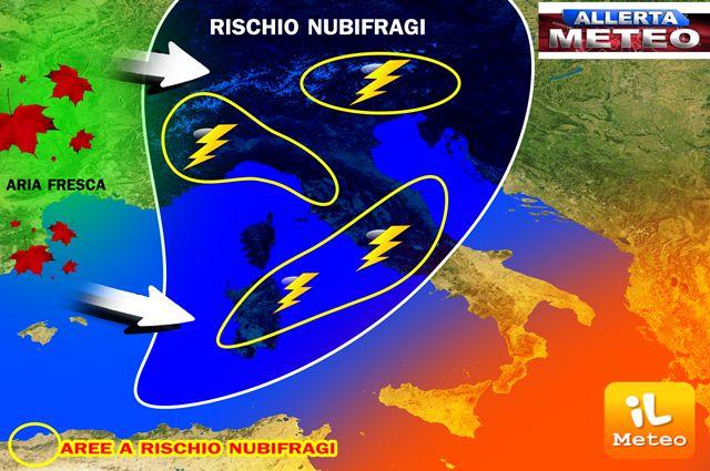 Migliora il tempo il Liguria, ora prolungata in Toscana l'allerta meteo