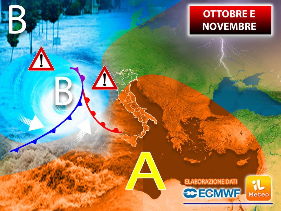Ottobre e novembre a rischio per l'Italia