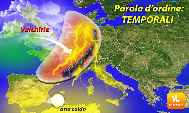 Meteo, in arrivo Storm Line: forti temporali e grandinate al Centro-Nord -PREVISIONI