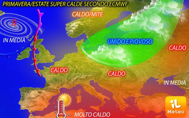 Meteo italia previsioni a lungo termine primavera estate super calde secondo ecmwf - Previsioni mercato immobiliare lungo termine ...