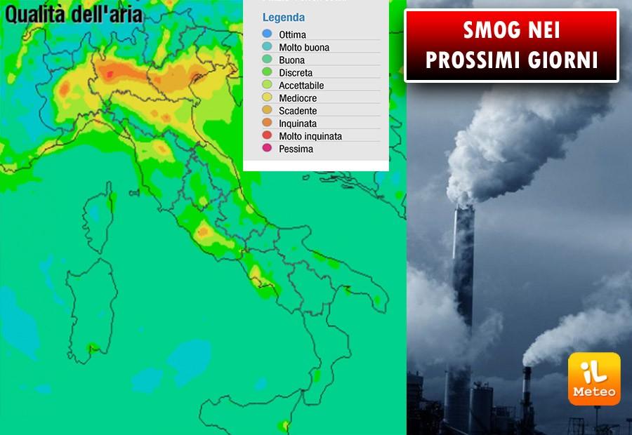 Inquinamento dell'aria: nei prossimi giorni a rischio le Pianure del Nord e le città del Centro Sud