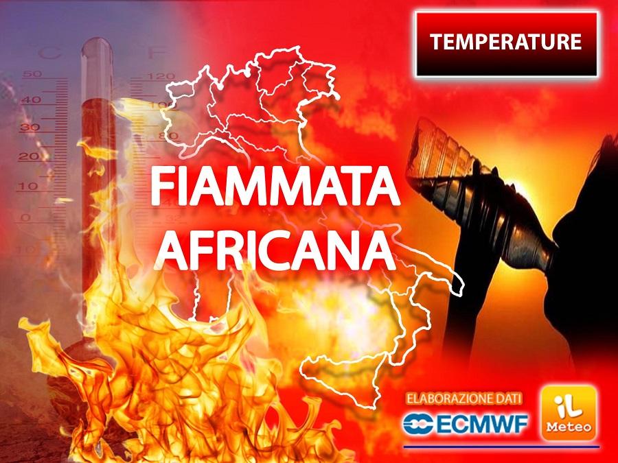 FIAMMATA AFRICANA IMMINENTE con picchi fino a 44°C