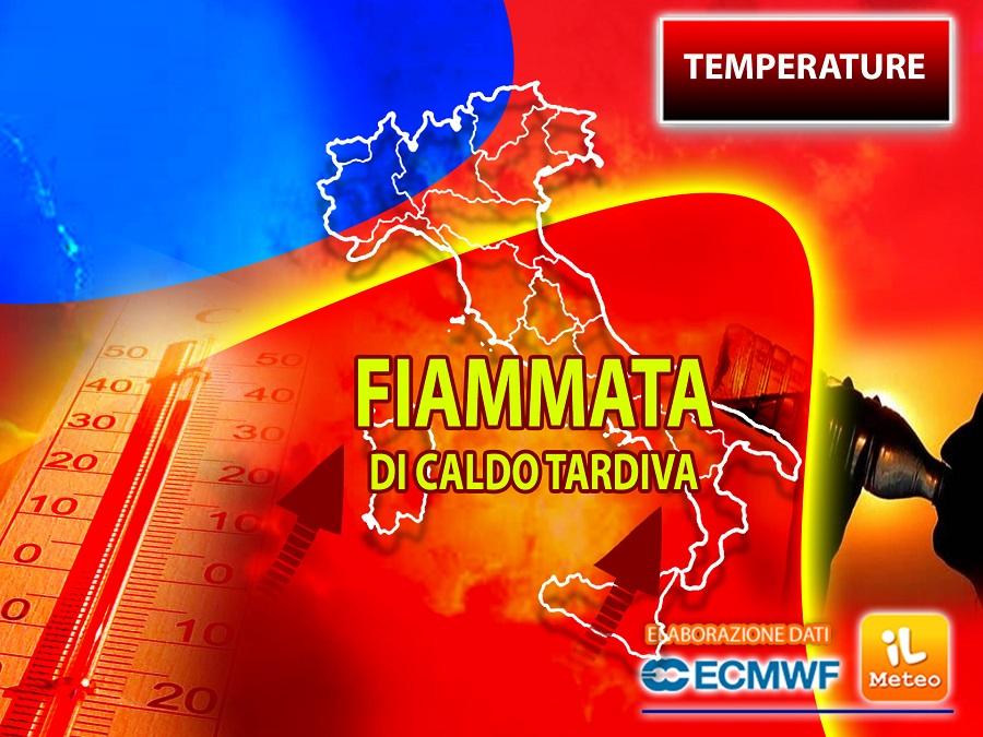 TEMPERATURE: attesi picchi di CALDO oltre i 35°C