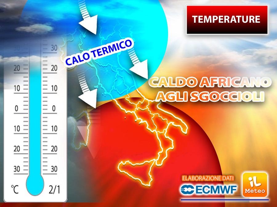 TEMPERATURE: CALDO AFRICANO agli sgoccioli