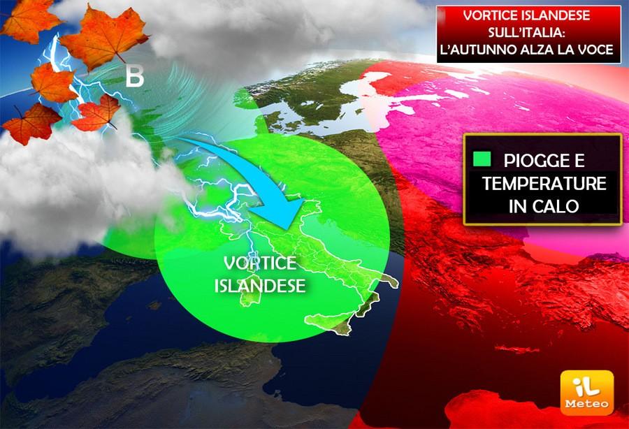 Vortice Islandese in azione a fine mese con ripercussioni anche sull'Italia