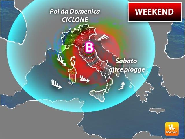 Le previsioni per il weekend
