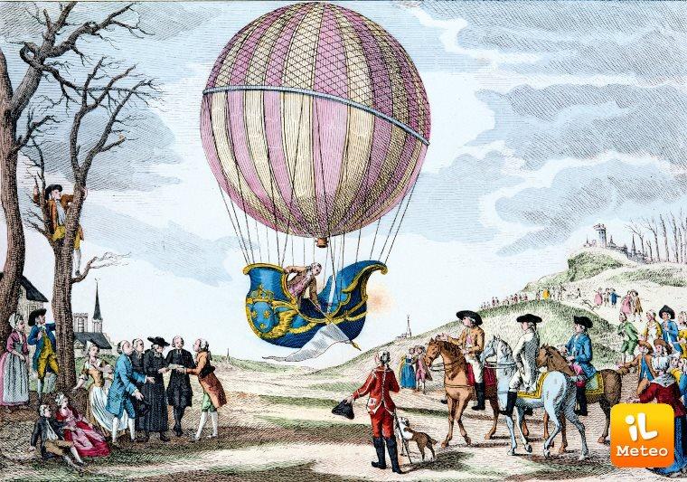 L'aerostato dei fratelli Montgolfier