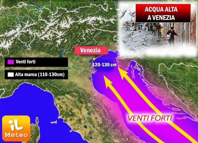 Venezia, acqua alta a San Marco. Fino a 125 cm di MAREA tra 26 e 27 Aprile