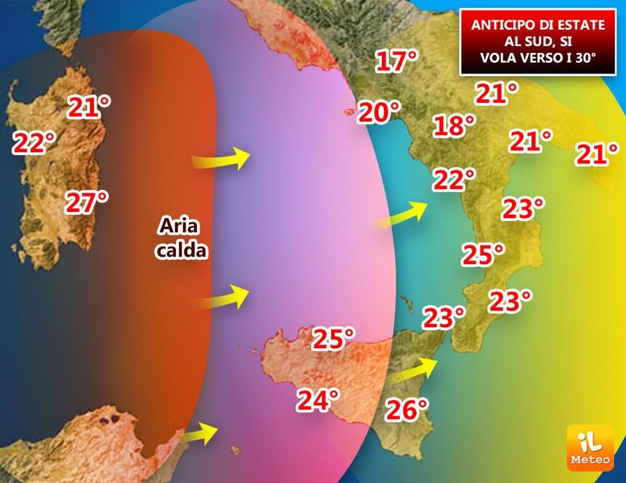 In Italia ritorna Burian Bis, ma in Sicilia si alzano le temperature