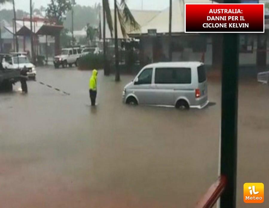 Australia, ciclone tropicale Kelvn si abbatte sull'ovest del Paese