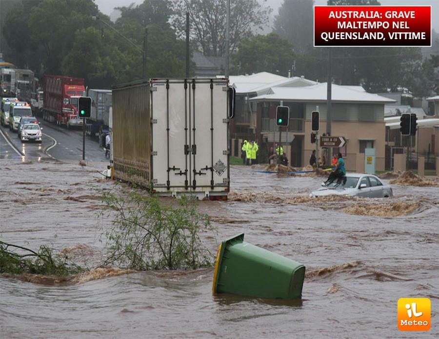 Australia, grave maltempo nel Queensland