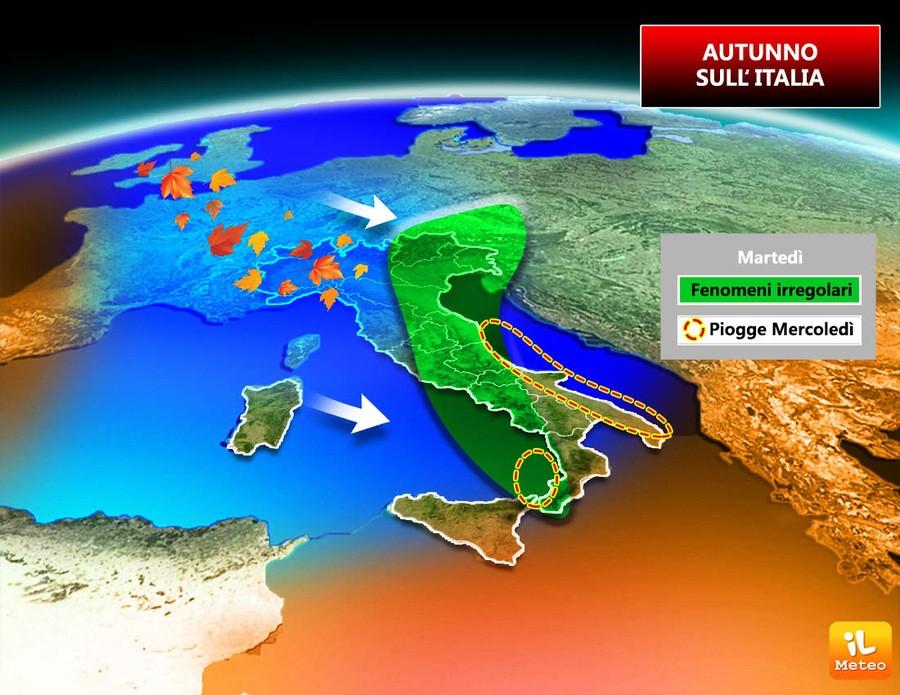 Ancora molto instabile su alcune regioni italiane