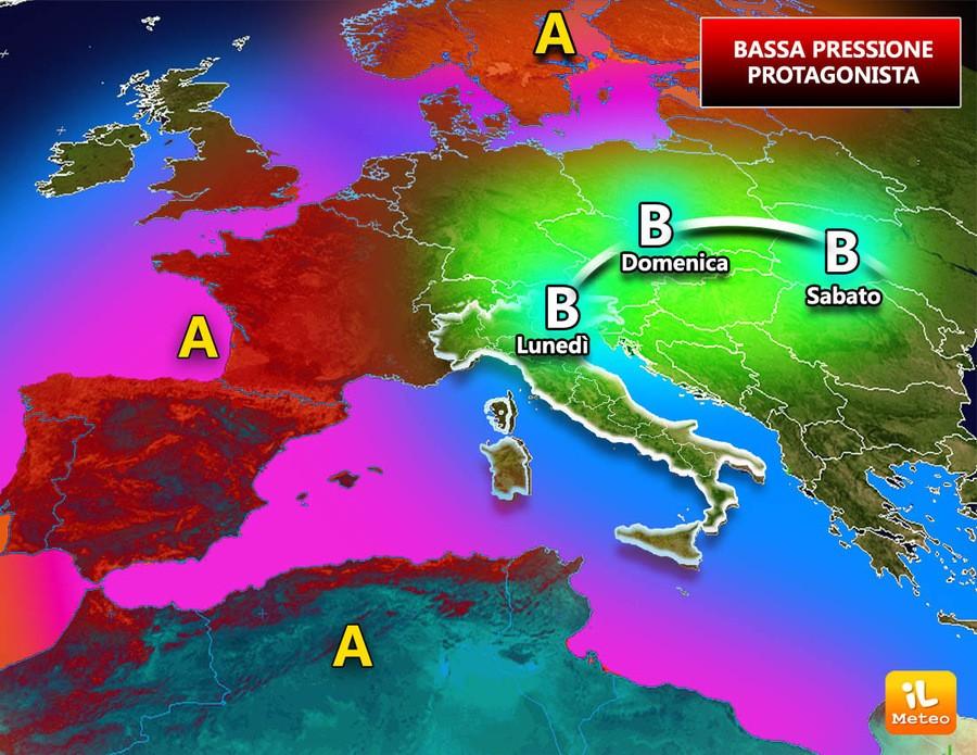 Bassa pressione sempre più protagonista sull'Italia. Ecco perché