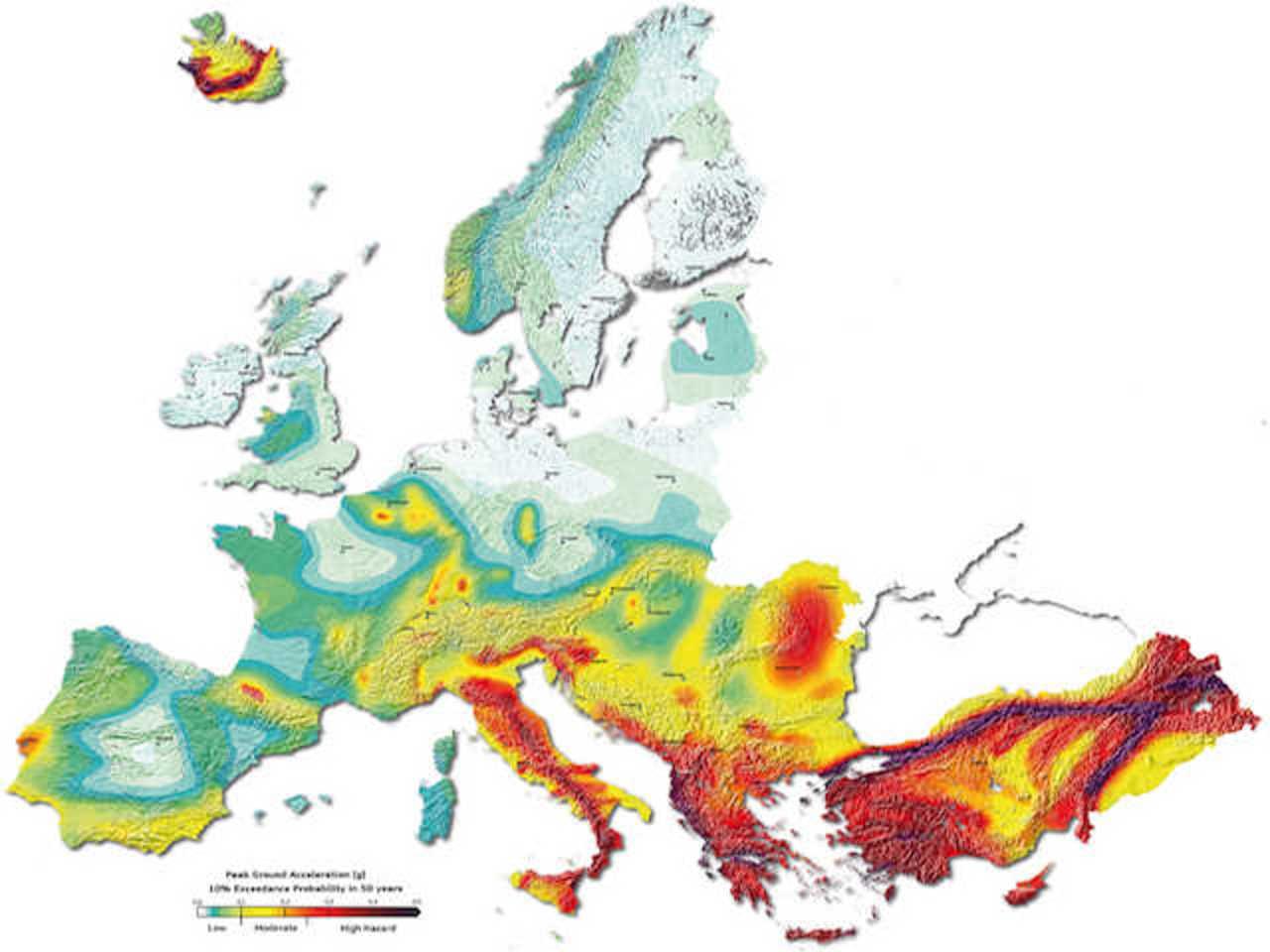Cartina Zone Sismiche Italia.Terremoto Ecco Le Zone Piu A Rischio In Europa E Nel Mediterraneo Ilmeteo It