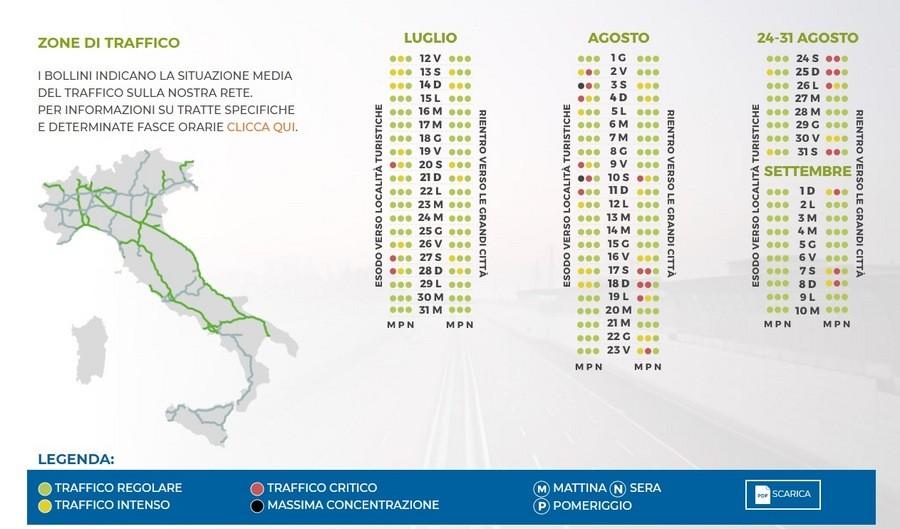 Calendario Traffico Autostrade Estate 2019.Meteo Traffico La Stagione Entra Nel Vivo Ecco La Mappa