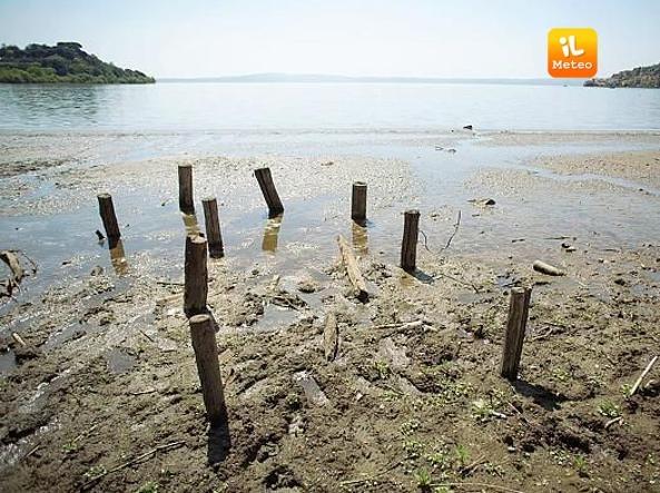 Lago di Bracciano, grave siccità