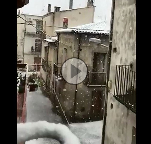 Nevicata sui rilievi calabresi