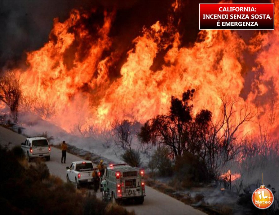 California, emergenza incendi