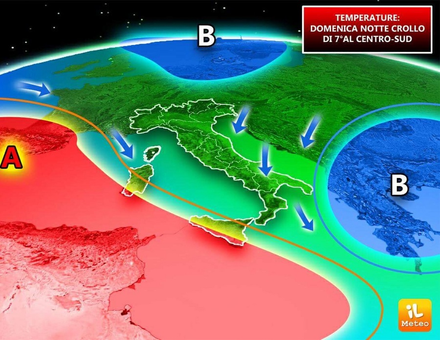 Calo termico in arrivo su alcune regioni