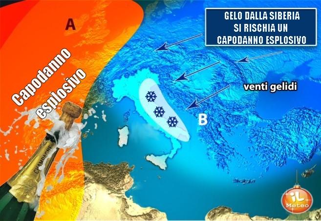 Gelo dalla Siberia e ciclone: il CAPODANNO potrebbe essere ESPLOSIVO