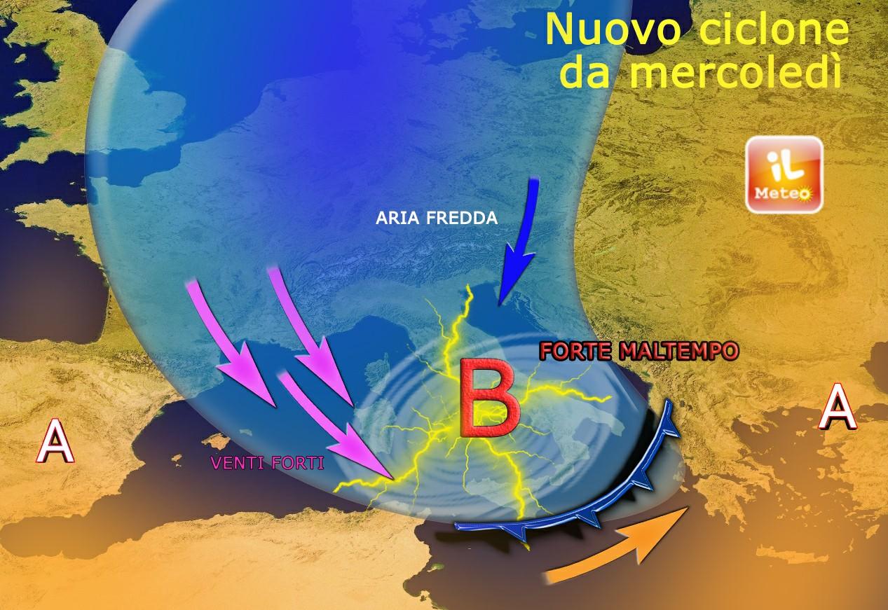 Ciclone Mediterraneo Giovedi 26 Novembre 2015