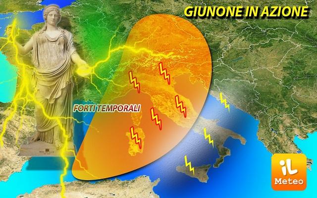 Meteo, weekend alle#39;insegna delle#39;instabilità. Temperature bollenti, ma anche temporali