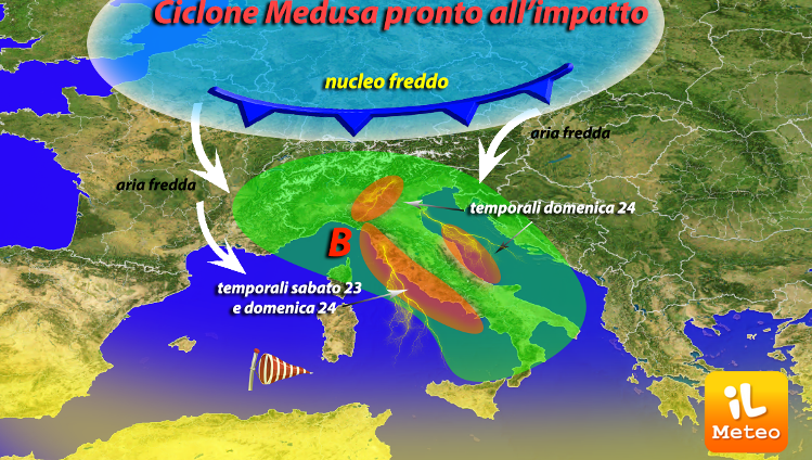 Meteo, weekend da incubo con